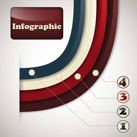vector sinfographic template, place for your text, fully editable eps 10 file,  transparency effects Vector