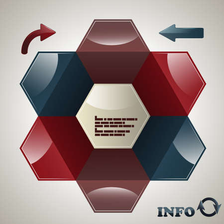 vector hexagon  infographic template, place for your data,  Vector