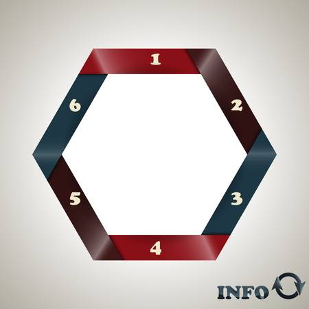 vector hexagon  infographic template Vector