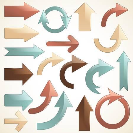 right arrow: vector set of shiny arrows  Illustration