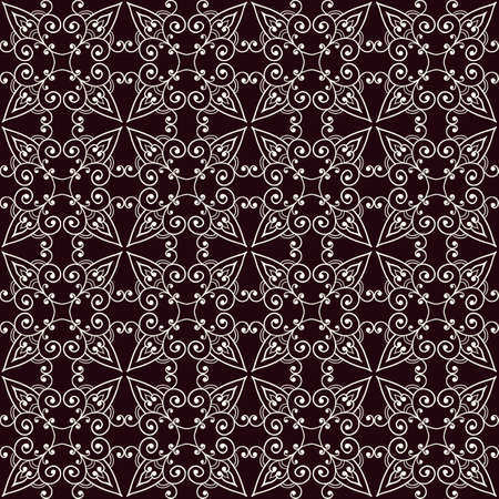 Vector Seamless Floral Pattern, Lacy Texture Vector