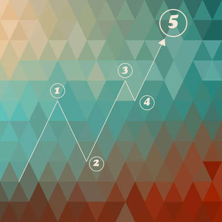 vector infographic template   on geometric background,  Vector