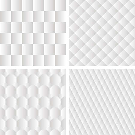 grid paper: 4 seamless eometric patterns, paper texture Illustration