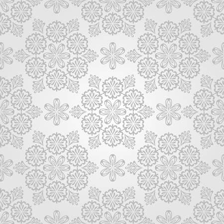 Vector Seamless Christmas Pattern with Snowflakes, vintage style, seamless pattern in swatch menu Vector