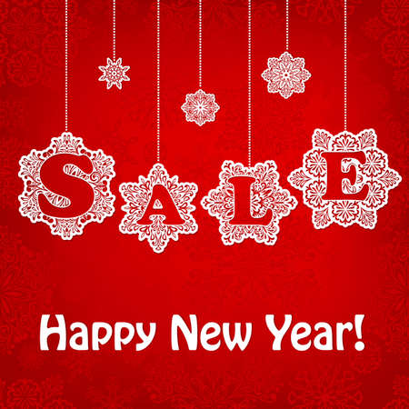 Vector New Year Sale Placard Vector