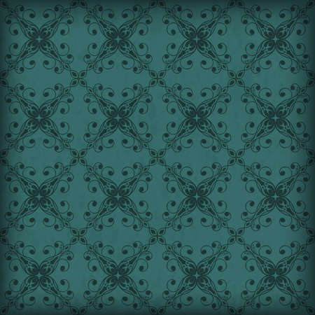 applied: Vector seamless floral pattern on grungy background, transparency effects and gradient mesh applied