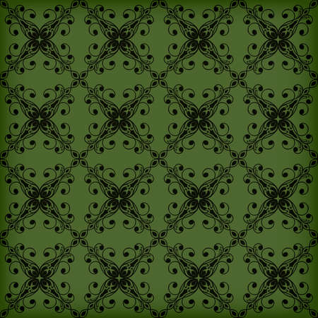 applied: Vector seamless Green floral pattern, transparency effects and gradient mesh applied, seamless pattern in swatch menu