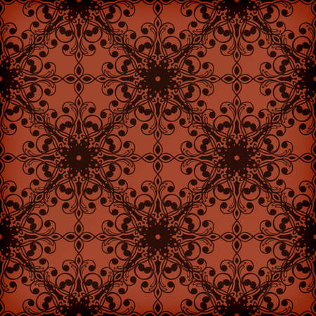 applied: Vector seamless red floral  pattern, transparency effects and gradient mesh applied