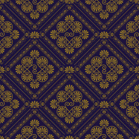 vector seamless pattern in eastern style, seamless pattern in swatch menu Vector