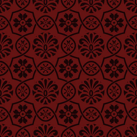 mendie: Vector seamless floral pattern, indian style, seamless pattern in swatch menu Illustration