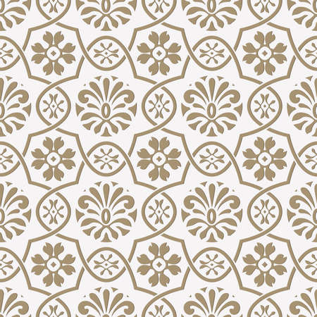 seamless paper: Vector seamless paper cut floral pattern, indian style, seamless pattern in swatch menu