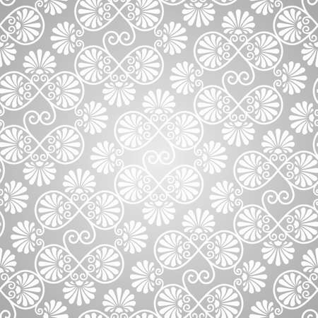 vector seamless patternon gradient background, seamless pattern in swatch menu Vector