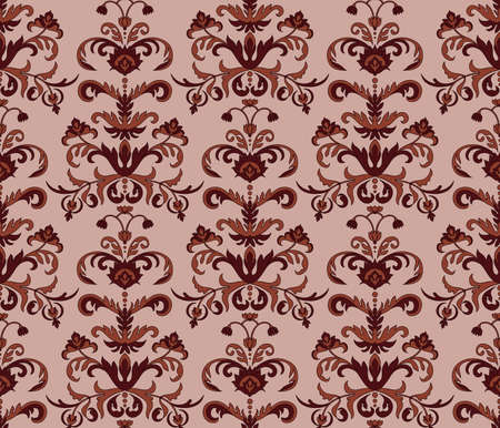 vector seamless floral pattern, seamless pattern in swatch menu Vector