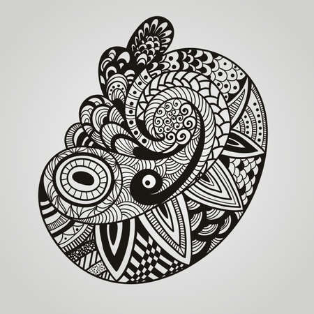 east indian: Vector paisley design element Illustration