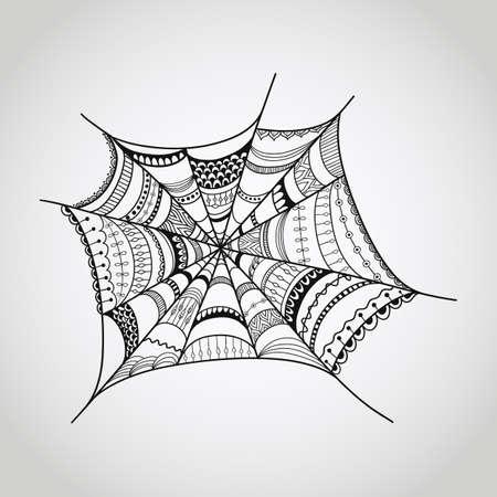 capture: spider-web illustration