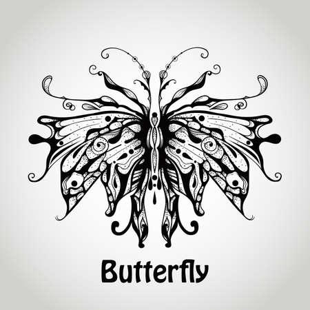 std: Graphic Butterfly, Hobo Std Medium