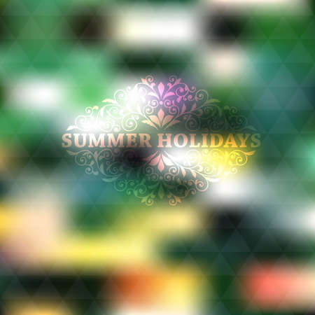 cooper: Vector Summer Background, place for your text, fully editable eps 10 file with gradient mesh and transparency effects,  Cooper Black Std font used in example