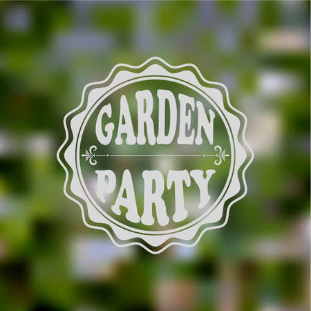 garden party: Vector Garden Party Invitation, Blurred background, gradient mesh and transparency effects, fully editable eps 10 file