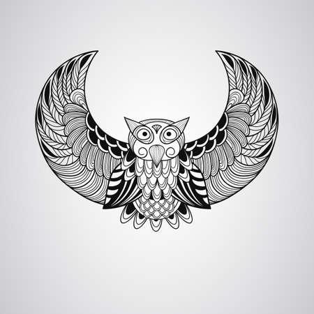 Black  Owl, Tattoo Style