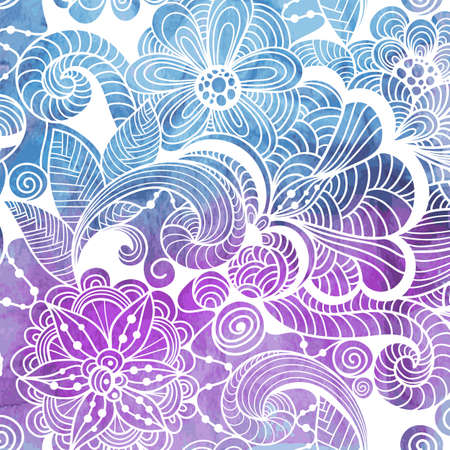 Vector  Winter Lacy Pattern Vector  Winter Lacy Pattern on Watercolor background, fully editable eps 10 file with clipping masks Vector