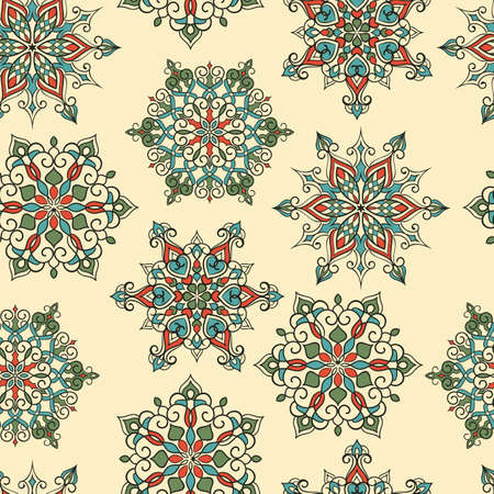 winter wallpaper: Vector Seamless Pattern with white snowflakes, seamless pattern in swatch menu