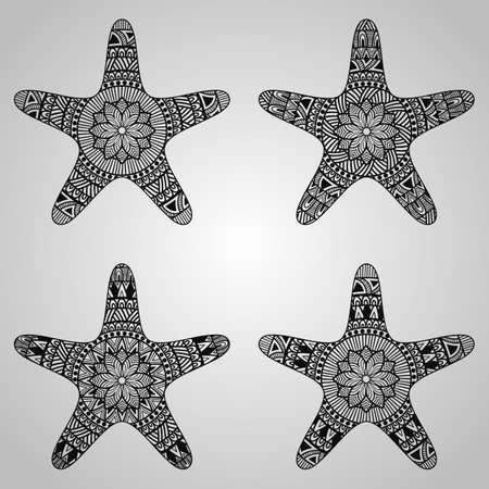 tattoo tribal: Star Collection Illustration