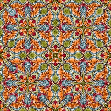fully editable: Vector Seamless Floral Pattern, fully editable  Illustration