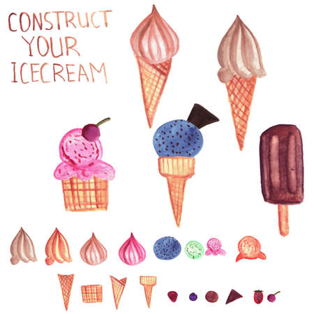 chose: Vector  Ice Cream Constructor: chose the base, ice cream and topping