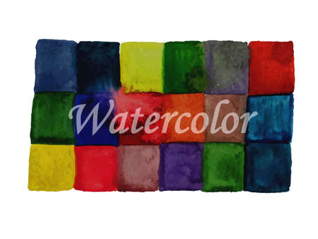 checked background: Vector Watercolor Checked Background for Your Message