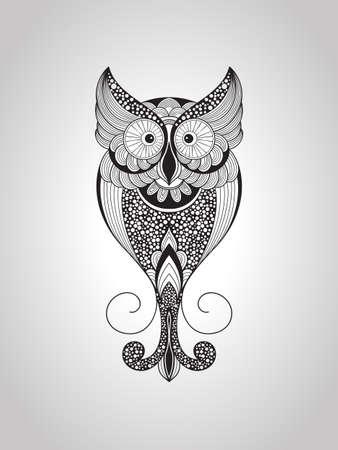 Vector Owl, Tattoo Style