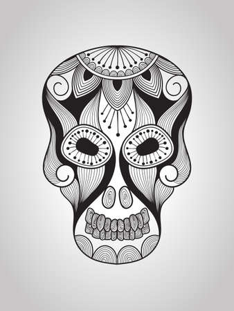 scull: Vector Scull, Tattoo Style