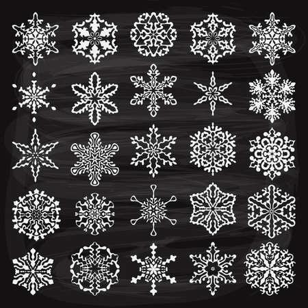 arte abstracto: Elementos del vector de fiesta del vintage de diseño y copos de nieve, totalmente editable de archivos, 10 de fondo de tiza con efectos de transparencia