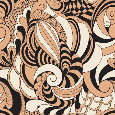 cochlea: Abstract Seamless  Doodle Pattern