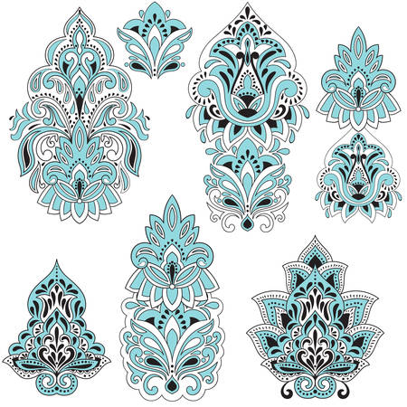 lotus petal: Vector  Paisley Design Elements