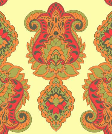 patrones de flores: Modelo brillante inconsútil de Paisley