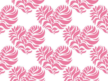 pink wallpaper: Vector Seamless Pattern with Hearts