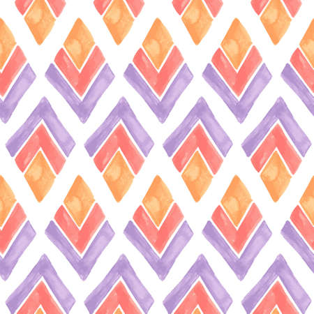 watercolour background: Vector Seamless Watercolor Geometric Pattern