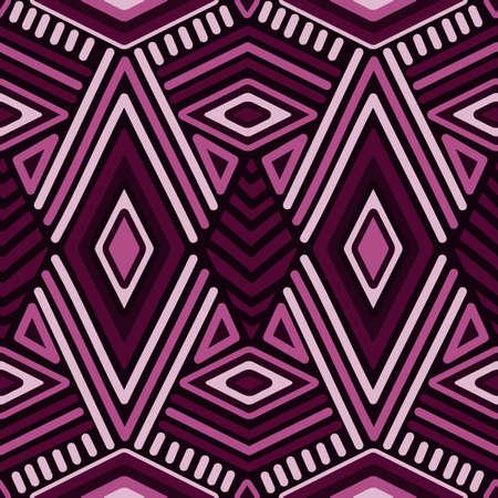 Vector Seamless Ethnic Pattern Illustration