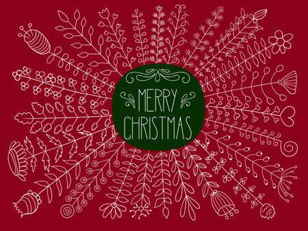 Vector Mewrry christmas Greetings
