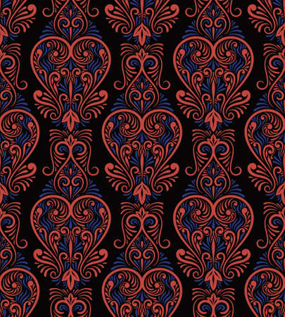 Vector Seamless Lacy Pattern on dark background