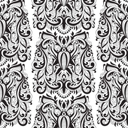 Vector Seamless Floral Pattern with bugs. Vintage style Ilustrace