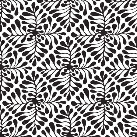 Vector Seamless Floral Pattern. Hand drawn by ink and brush. Japanese style Stock Illustratie