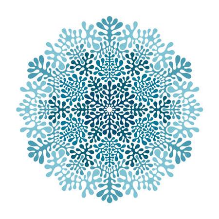 Modello vettoriale con fiocchi di neve invernali Vettoriali