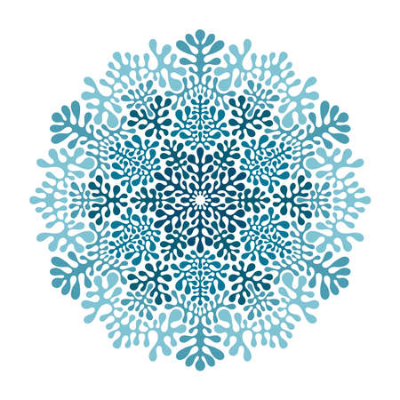 Vector Pattern with winter snowflakes Vector Illustration