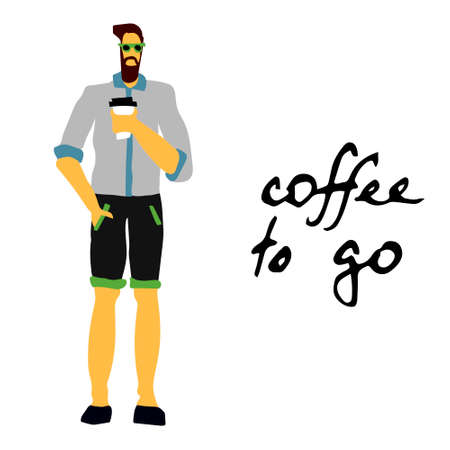 man with coffee at morning