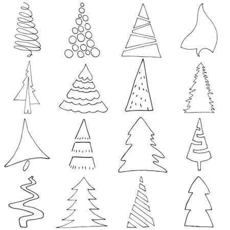 2019 new year merry xmas tree Ilustrace