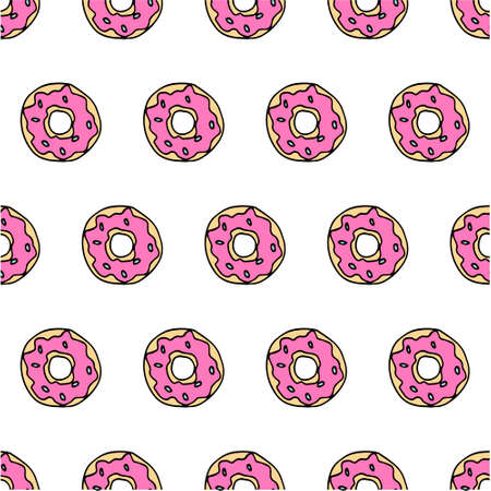 Cute donat pink and white pattern