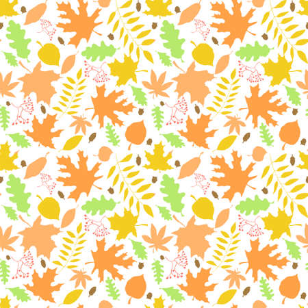 Autumn watercolour leaf pattern Stock Photo