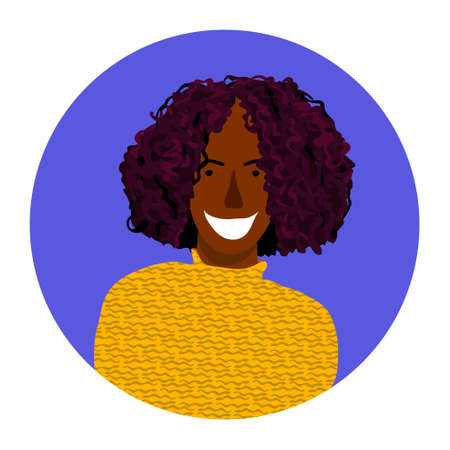 Vector portrait of smiling woman in sweater