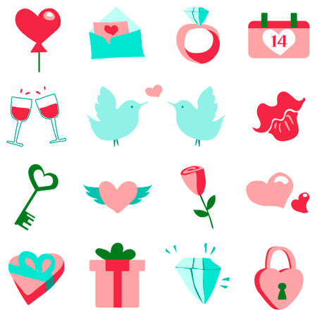Valentine set Ilustrace